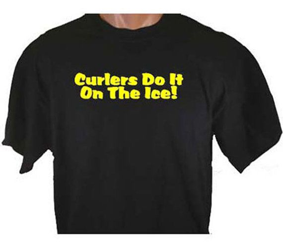Curlers Do It On The Ice Curling Funny Humor by TeeDesignsbyVR