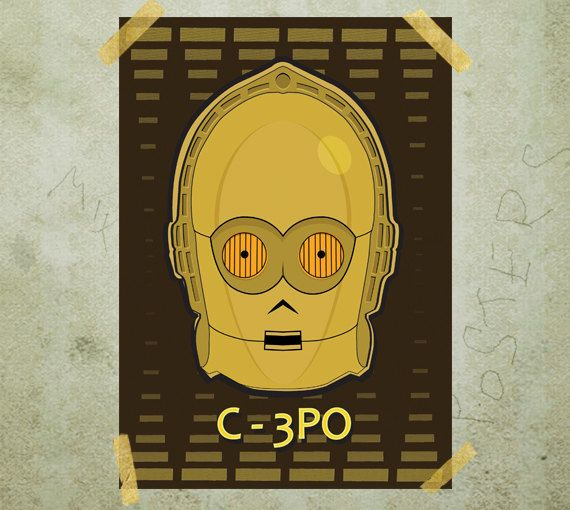 C3PO Star Wars poster print A3 by MixPosters on Etsy, $18.00