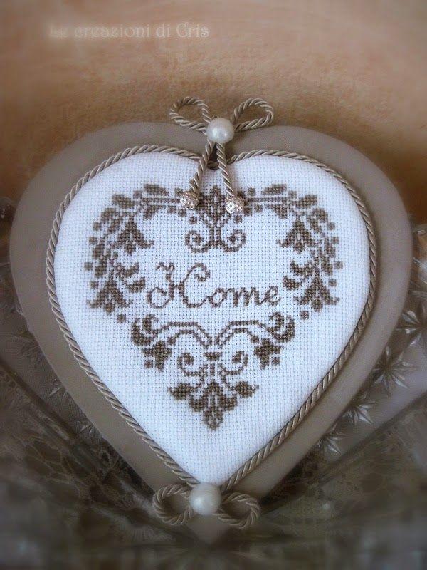 LE CREAZIONI DI CRIS ... di tutto ... un pò: le parole del CUORE per dire .... HOME SWEET HOME