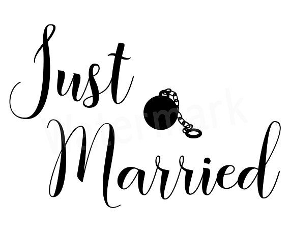 Just Married Svg Wedding Day Svg Ball And Chain Svg Husband And Wife Man And Wife Vehicle Window Decal Photo Overl Just Married Wedding Icon Man And Wife