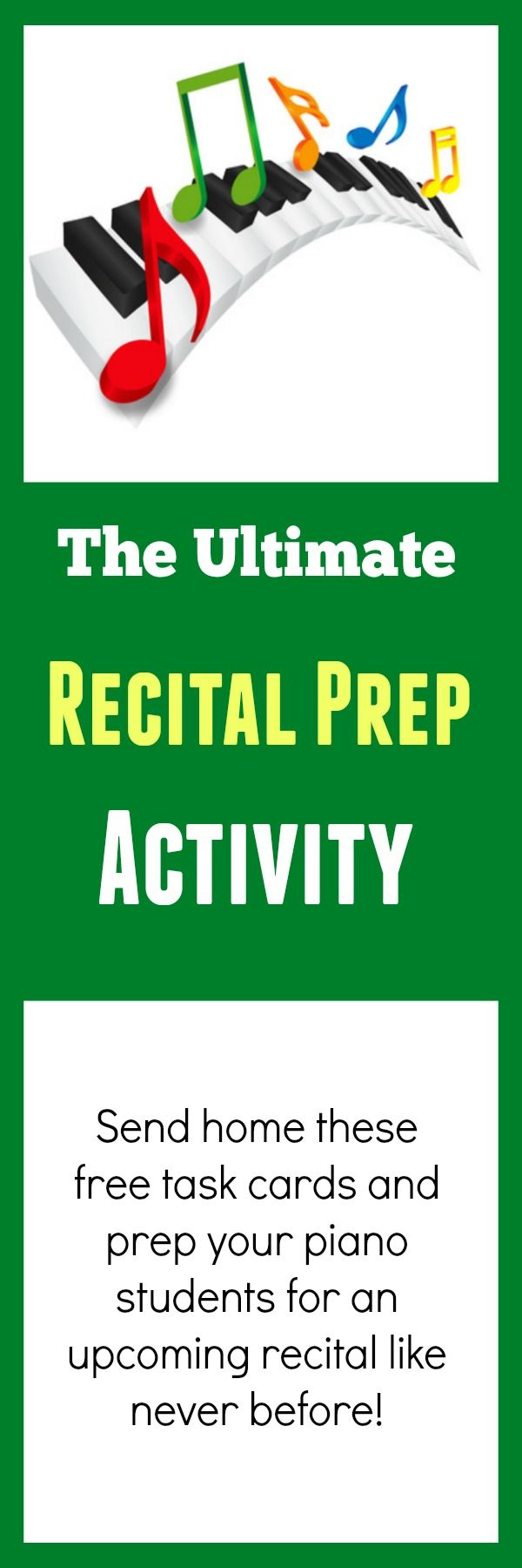 """Here's a printable you can use to prep your piano students for """"The Big Day"""" #recital #piano"""