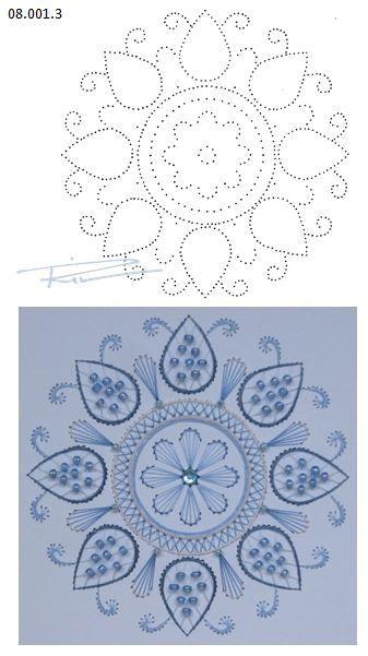 Rit Vanschoonbeek 08.001.3 borduren op papier