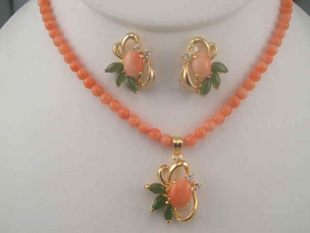 pink coral necklace - Bing images
