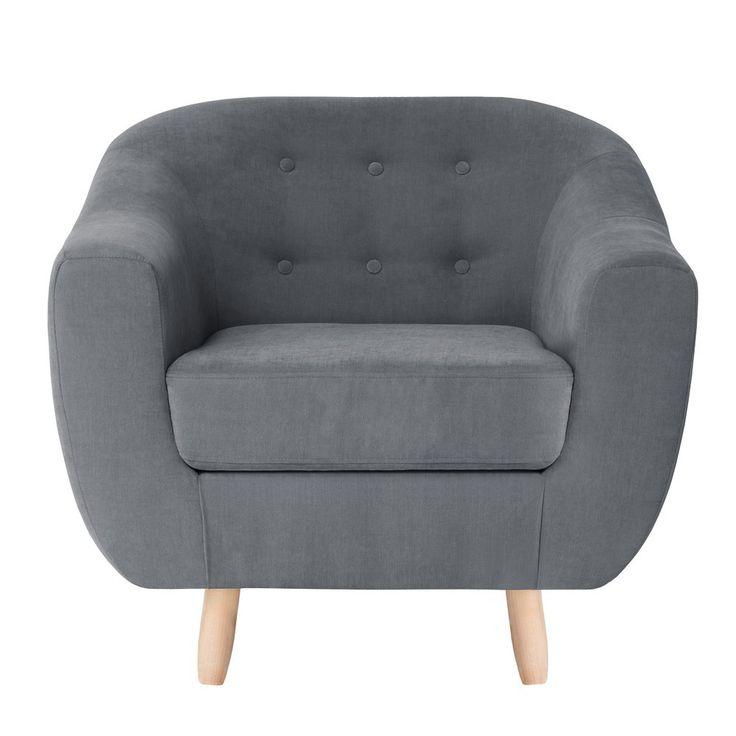 ANTONI fotel na drewnianych nogach styl PRL, Retro, Skandynawski