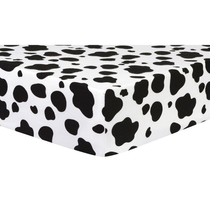 Cow Print Deluxe Flannel Fitted Crib Sheet By Trend Lab