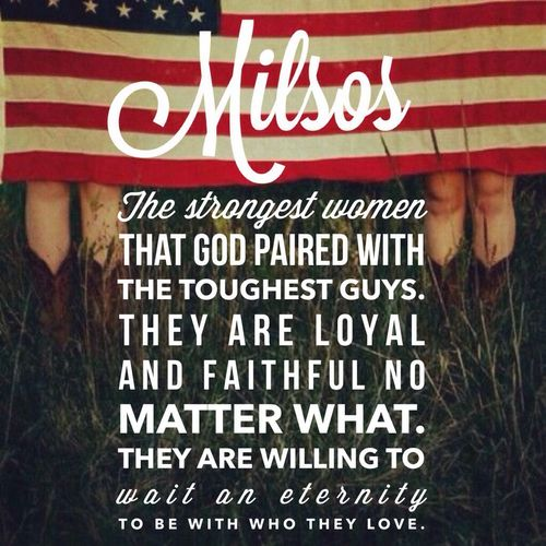 Milso Strong Love. Some girls can't handle it. I have a lot of Respect for the other Women out there who stand by their man no matter what.