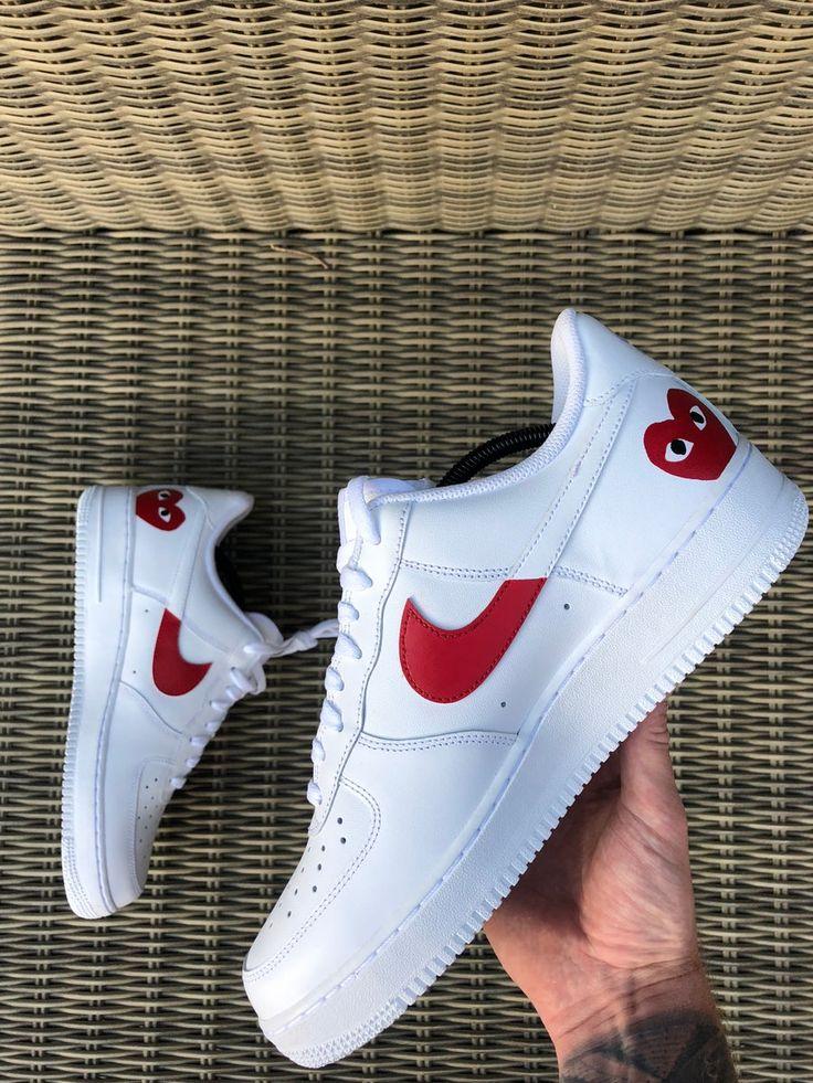 Nike Air Force 1 X Comme Des Garçons | White nike shoes, Nike air ...