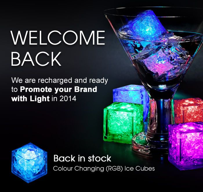 Colour-Changing / Light-up RGB Ice Cubes!  Now in stock!!!