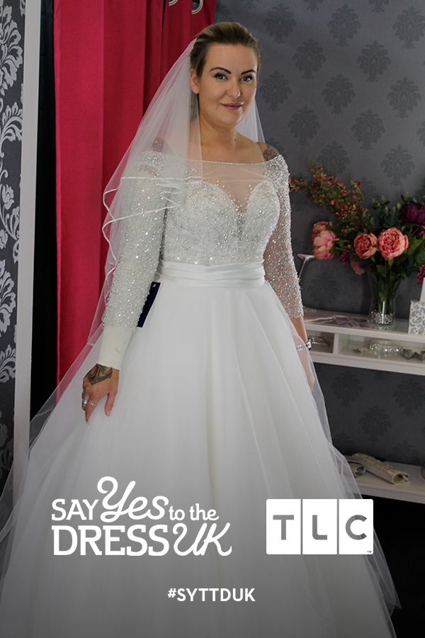 You'd never know that this graceful bride is rocking a full tattoo sleeve under her gorgeous gown. 'Like' if you'd say Yes to this dress! Say Yes To the Dress UK, Say Yes To the Dress UK on TLC! #SYTTDUK