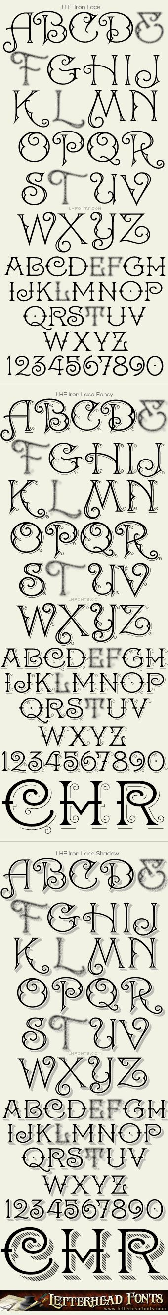 Letterhead Fonts / Iron Lace font set / Decorative Fonts