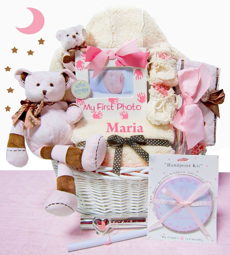 Best 25 baby girl gift baskets ideas on pinterest baby gift luxurious newborn baby girl gift basket negle Gallery