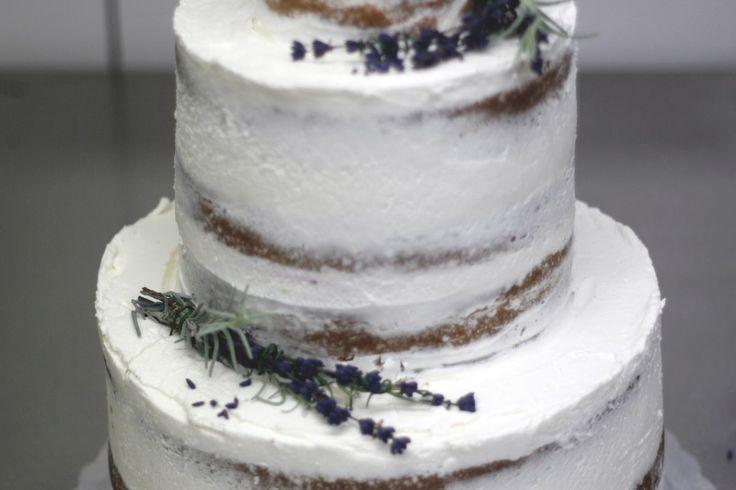 wedding semi naked cake
