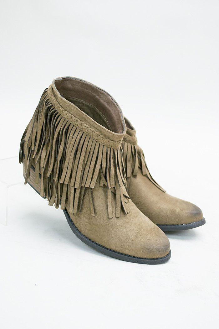 Kickin' Class Fringe Ankle Boot
