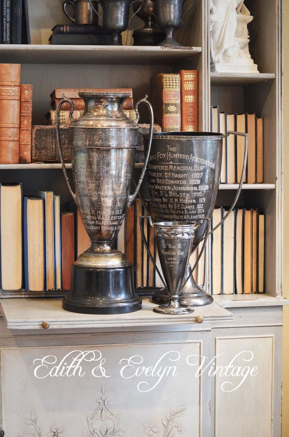 GIGANTIC+Vintage+Fox+Hunting+Trophy+Cup+by+edithandevelyn+on+Etsy,+$295.00