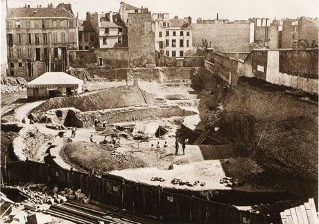 1869 - La découverte des Arènes de Lutèce | PARIS UNPLUGGED : une histoire de paris en images - http://www.paris-unplugged.com