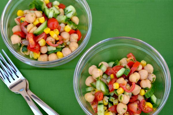 Labor Day Chickpea Veggie Salad Recipe | Food | Pinterest