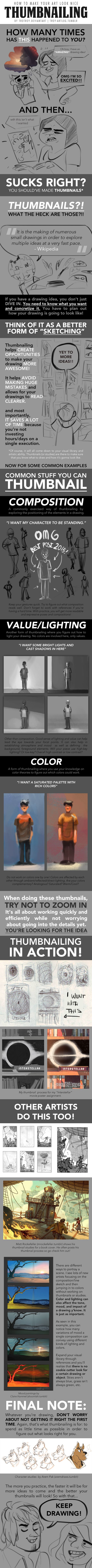HOW TO MAKE YOUR ART LOOK NICE: Thumbnailing by trisketched.deviantart.com on @DeviantArt