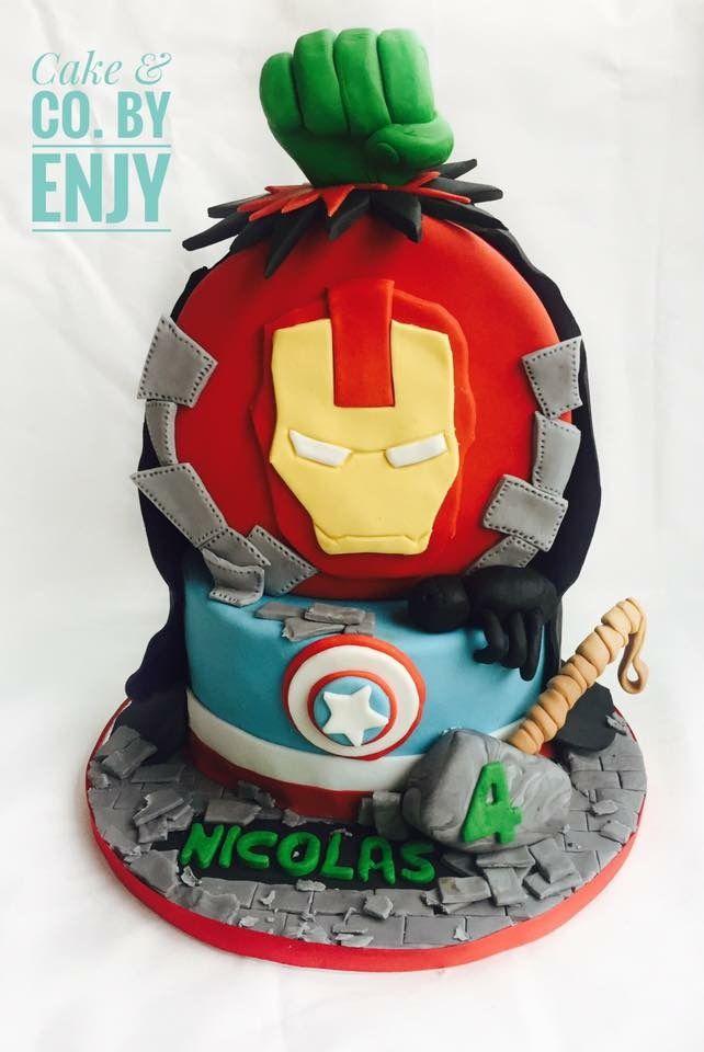 Super Hero Cake  Www.facebook.com/cakeandco.byenjy/