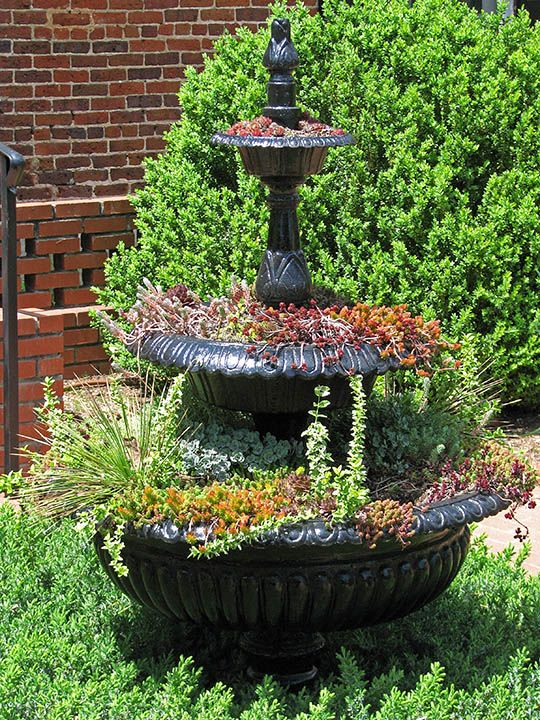 Fountain Planter Container Gardens Pinterest Planters