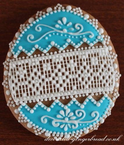 Blue icing lace