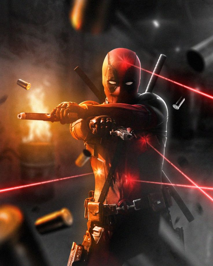 Deadpool Action by LitgraphiX