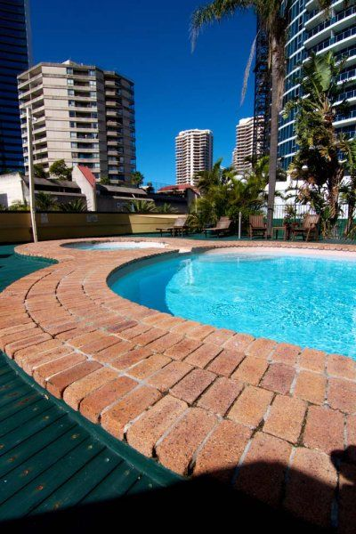 Promenade Apartments - First Floor Pool Area - Serviced Apartments Surfers Paradise