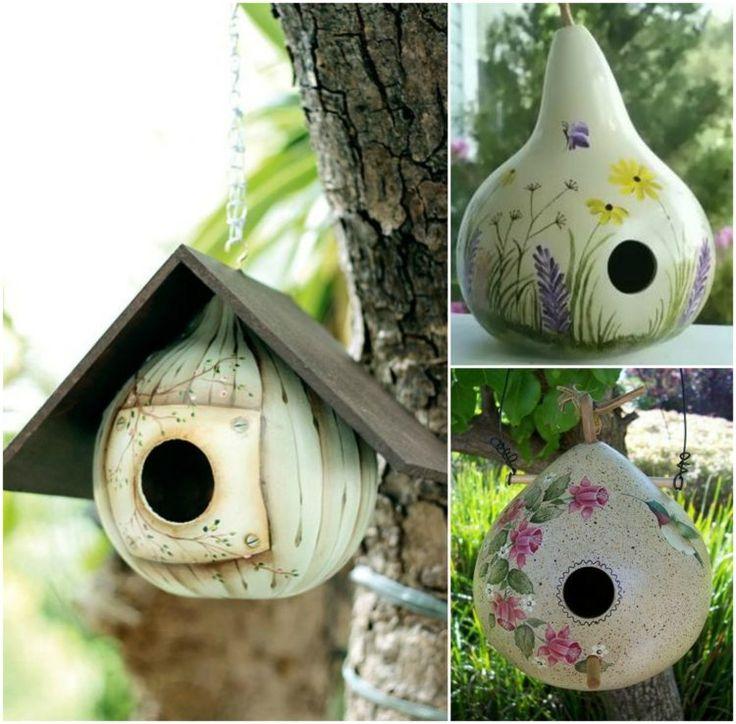 Gestalten Sie ein einzigartiges Vogelhaus aus Kalebasse
