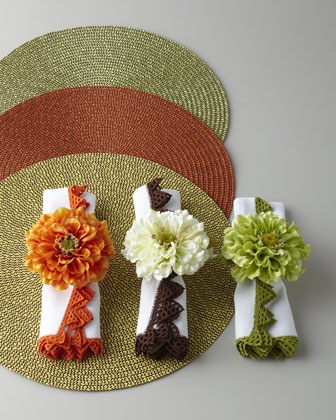 90 Best Images About Crochet Napkin Rings On Pinterest