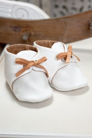 """Cute baby boy bootees, matching several outfits from """"Les AristoKats"""" Collection."""