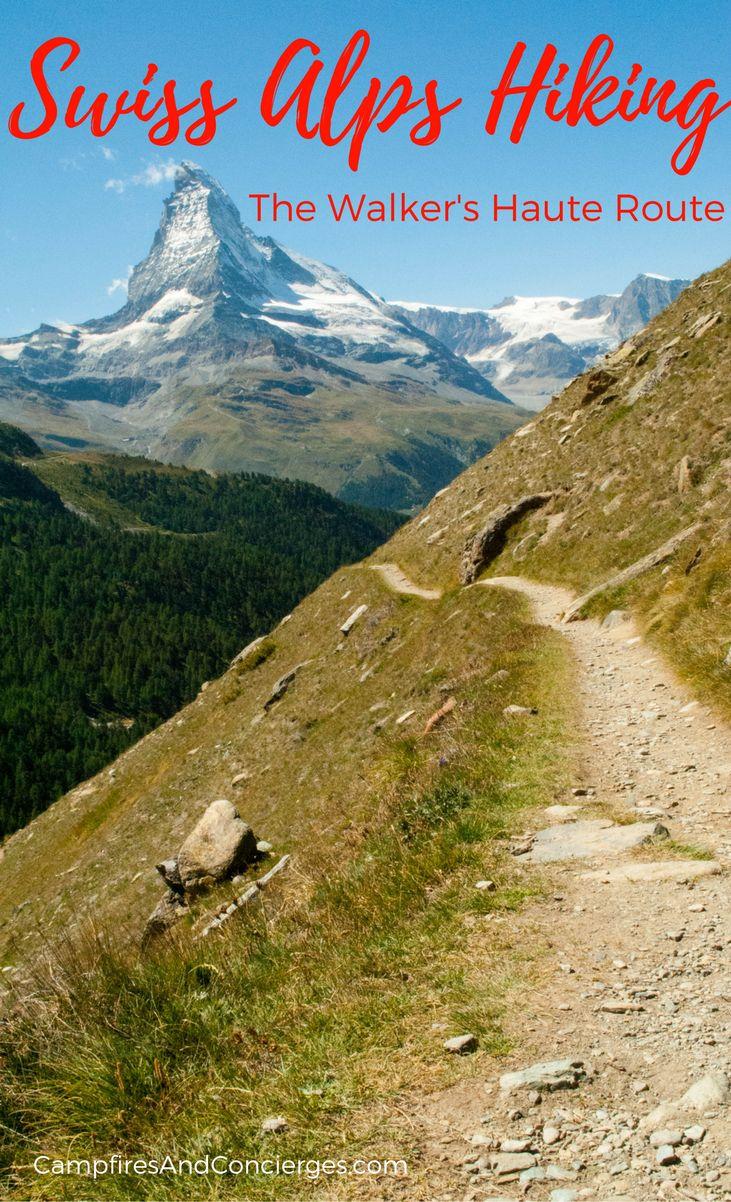 Walker's Haute Route Hike from Chamonix to Zermatt Switzerland Hiking #HauteRoute #SwissAlps