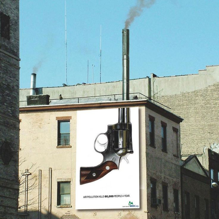This poster was very clever. It uses the smoke stack as the barrel of the revolver, and the smoke stack has smoke coming out, making it look like the gun was just fired.