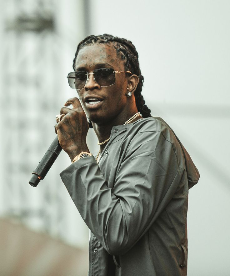 "Young Thug Dress Jeffrey Cover Twitter Reacts | Young Thug posed in a dress for the cover of his ""Jeffrey"" mixtape, prompting a Twitter celebration. #refinery29 http://www.refinery29.com/2016/08/121340/young-thug-poses-dress-album-cover"