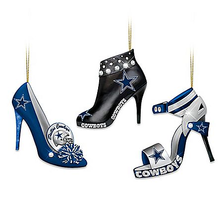 NFL Dallas Cowboys Steppin' Out Stiletto Shoe Ornament Collection