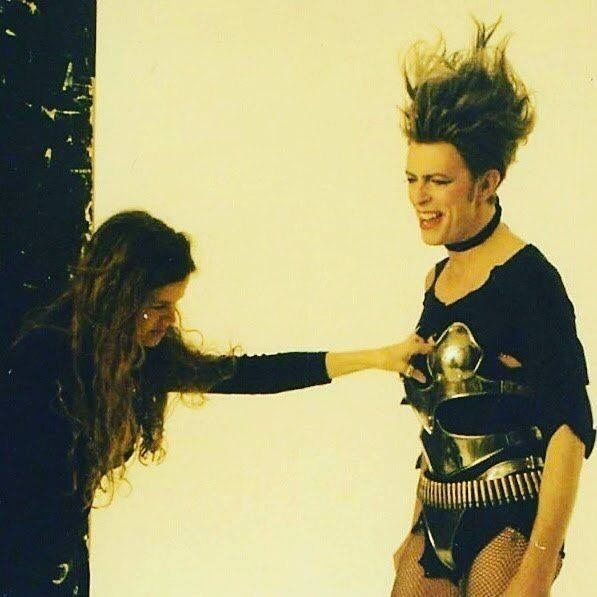 David #Bowie as Ramona A. Stone, photoshoot for '1. Outside' album liner notes & booklet