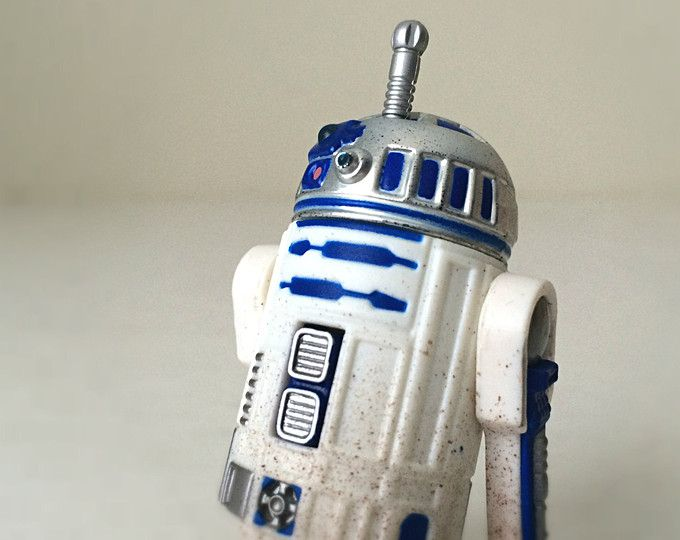 Vintage Star Wars R2D2 Action Figure Toy with Launching Lightsaber, 1990s Kenner Hasbro Star Wars Gift #ad