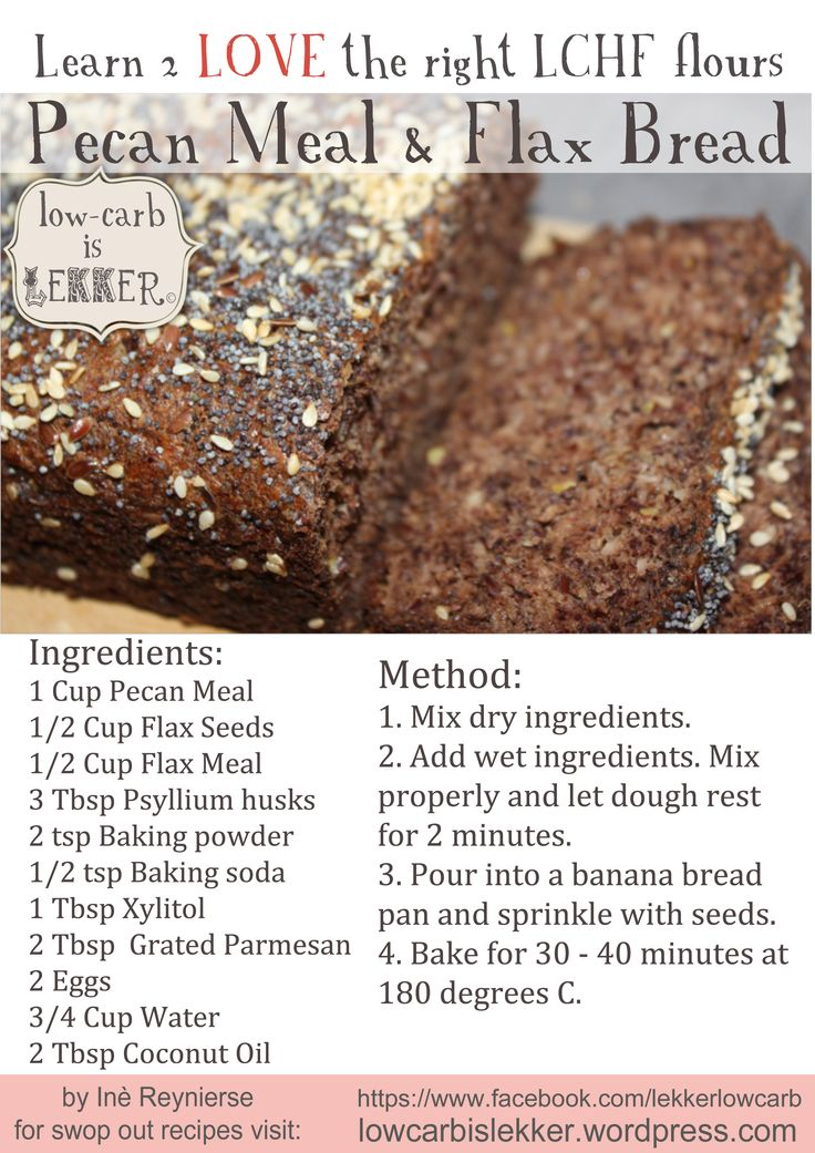 Flax and Pecan Bread - Lowcarb is Lekker