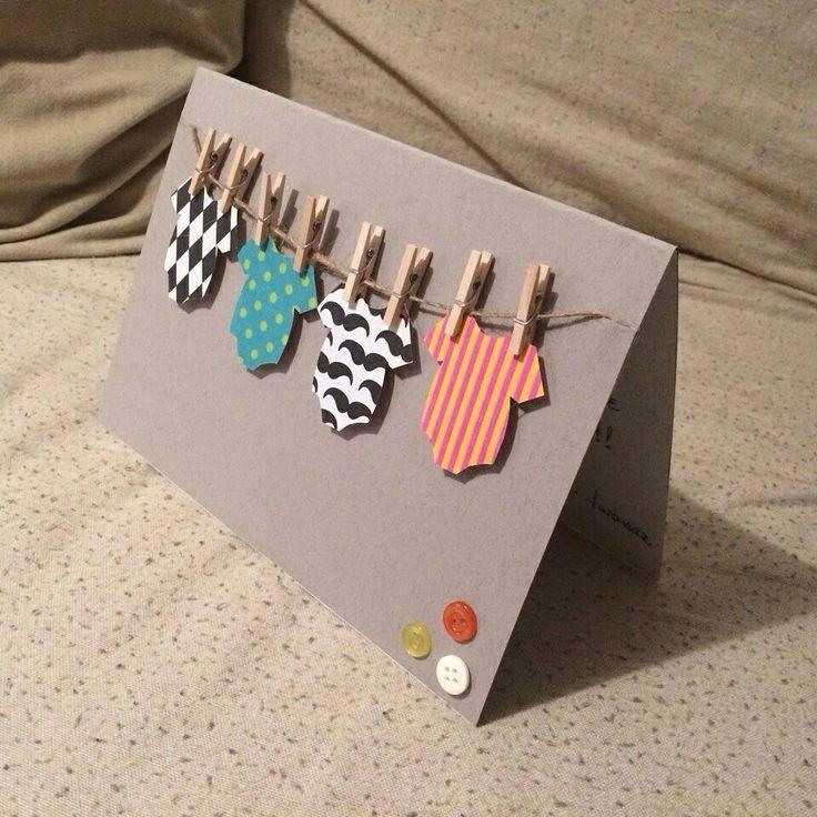 Gift card for newborn baby; baby boy; baby girl; DIY craft