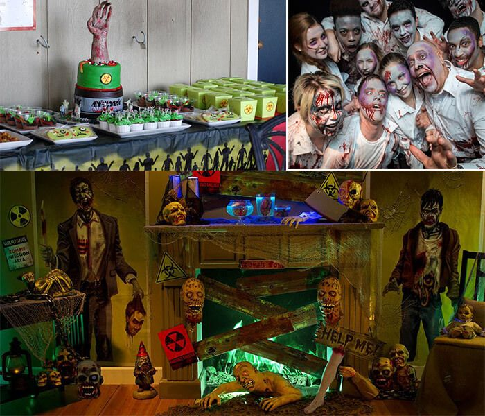 Zombie Land Theme Party : Invite the zombie land in this zombie theme party. #birthdaypartytheme #Zombietheme