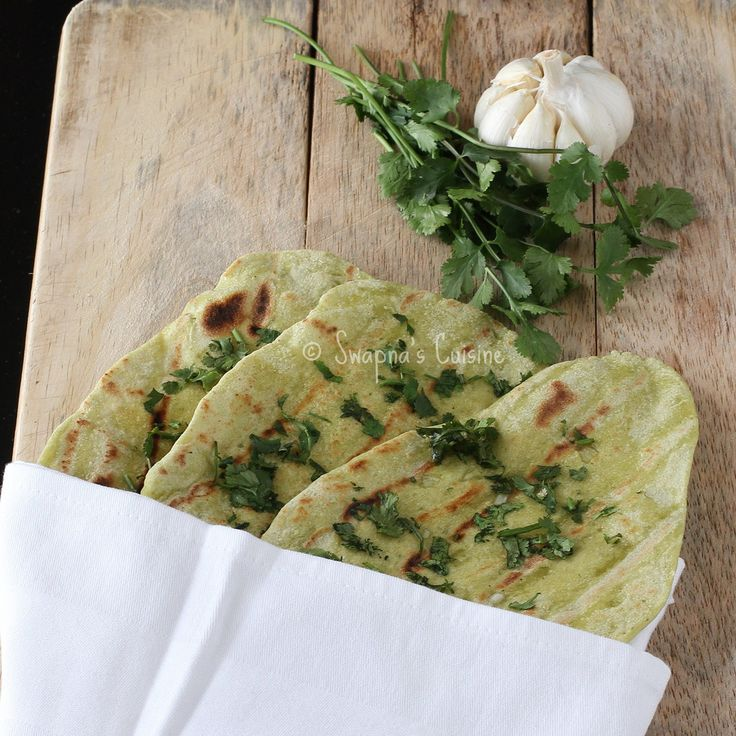 Coriander and Garlic Naan. Who's with me!?
