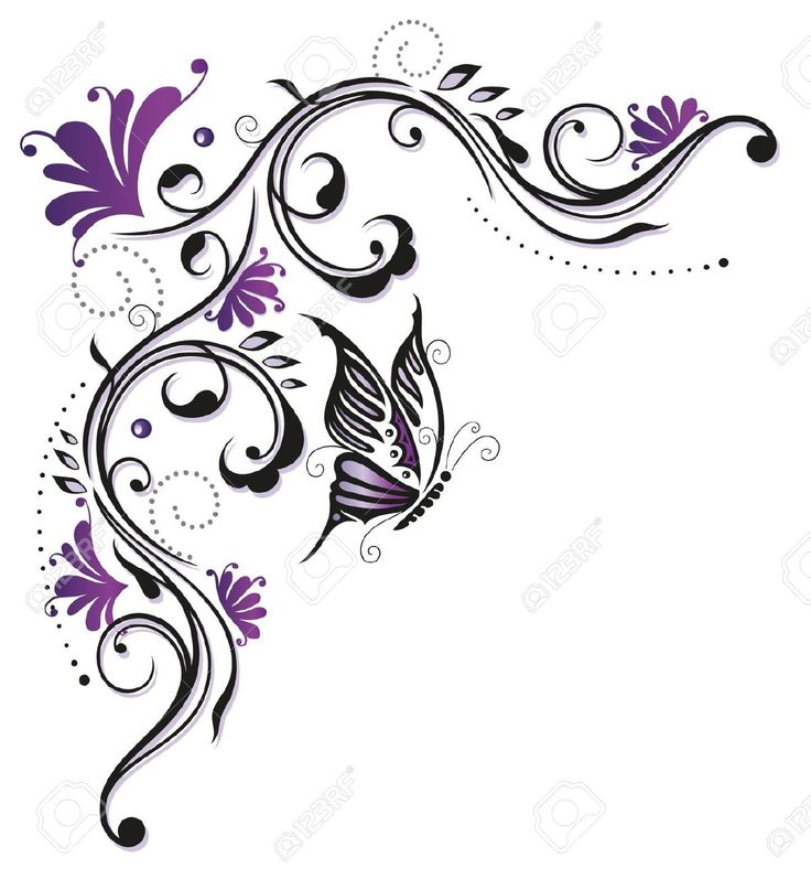 Flowers, Butterfly, Purple, Violet Royalty Free Cliparts, Vectors, And Stock Illustration. Pic 21349661.
