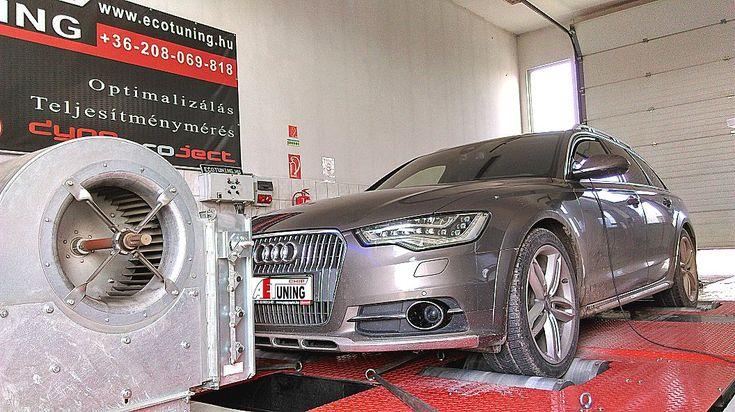 Audi A6 4G Allroad Quattro 3.0TDI 313LE Bi-Turbo Optimalizálás 4×4 DYNO padon