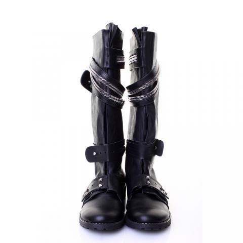 Bocanci piele neagra, interior piele neagra | The Boutique http://theboutique.ro/products/bocanci-piele-neagra-interior-piele-neagra