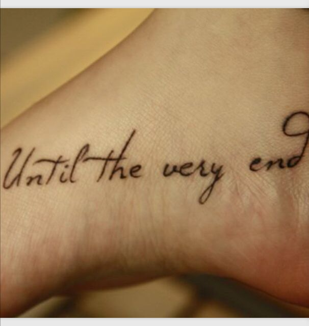 15+ Best Ideas About Foot Quote Tattoos On Pinterest