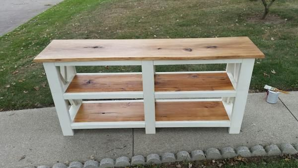Rustic X Console Table Do It Yourself Home Projects From