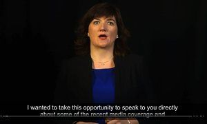 Nicky Morgan video message to teachers