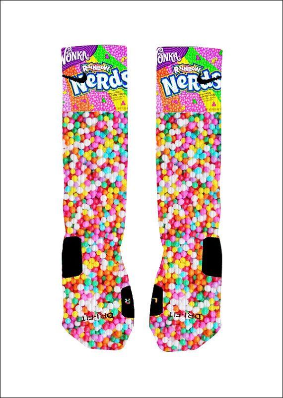 Hey, I found this really awesome Etsy listing at https://www.etsy.com/listing/184994808/custom-nerds-candy-socks-custom-nike
