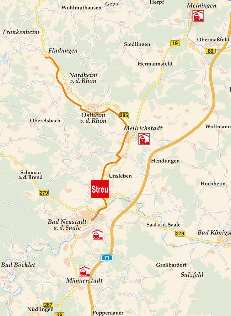 Streutal Radweg Fladungen Karte