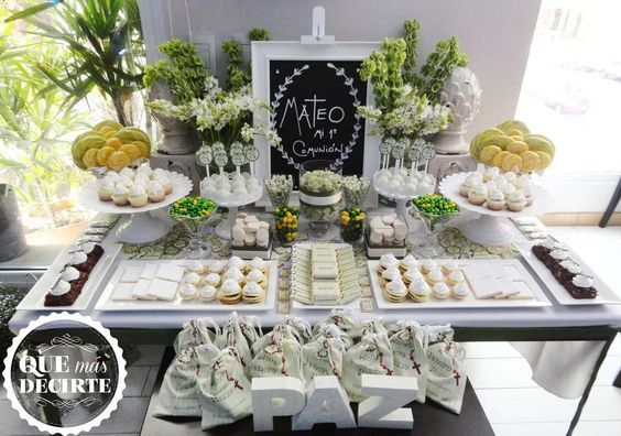 decoración primera comunión