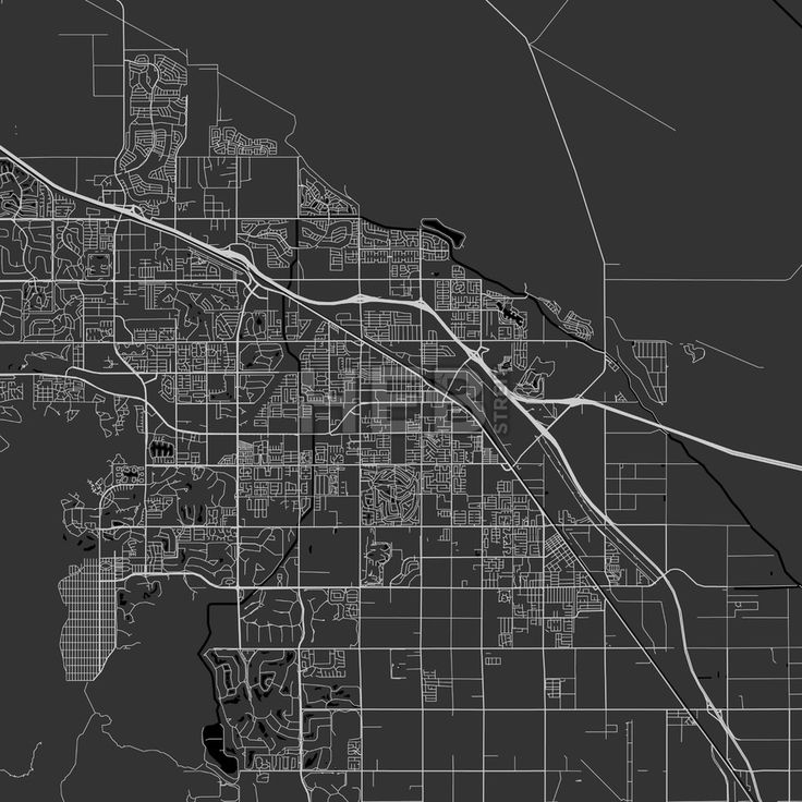 California Map Hwy 99%0A Indio  California  Area Map  Dark