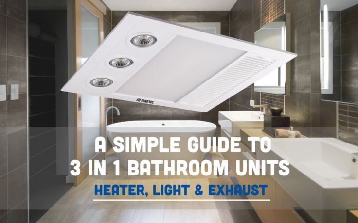 Guide to Bathroom 3-in-1 Heater, Light & Exhaust Units